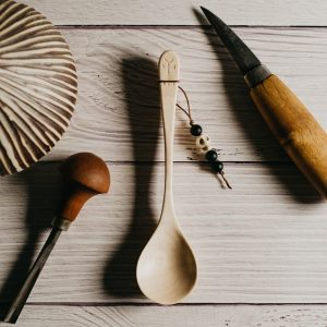 Cuillère artisanale en érable